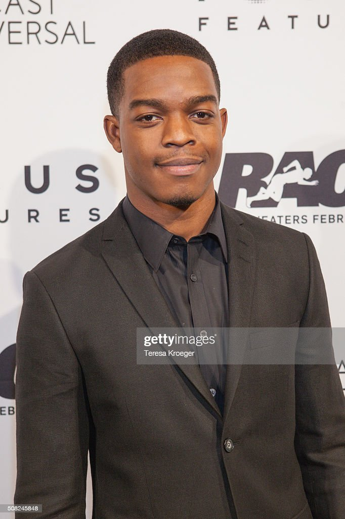 Actor Stephan James attends the Washington, DC premiere of 'Race' at The Newseum on February 3, 2016 in Washington, DC.