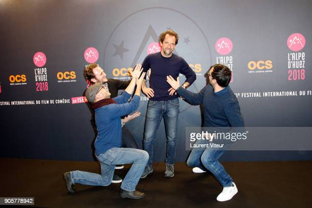 Actor Stephane De Groodt and guests attend Opening Ceremony during the 21st L'Alpe D'Huez Comedy Film Festival on January 16 2018 in Alpe d'Huez...