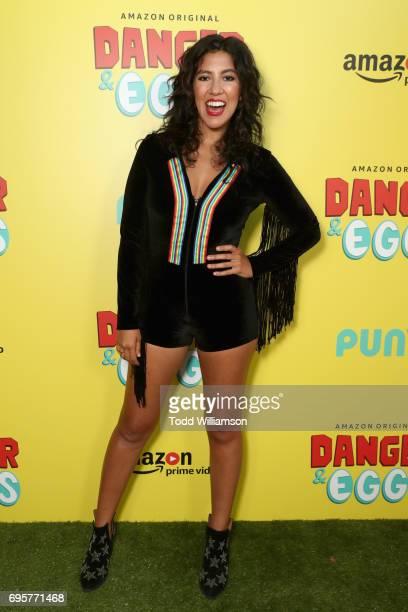 Actor Stephanie Beatriz attends Danger Eggs Premiere Party at El Cid on June 13 2017 in Los Angeles California