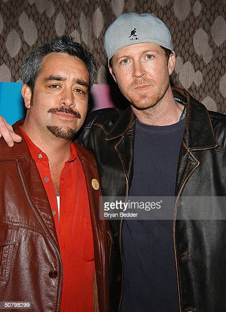 Actor Stephen Adly Guigis and Director Brett C Leonard arrive at the 'Jailbait' screening during the 2004 Tribeca Film Festival May 3 2004 in New...