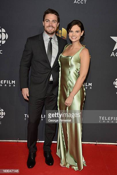 Actor Stephen Amell and Cassandra Jean arrive at the Canadian Screen Awards at the Sony Centre for the Performing Arts on March 3, 2013 in Toronto,...