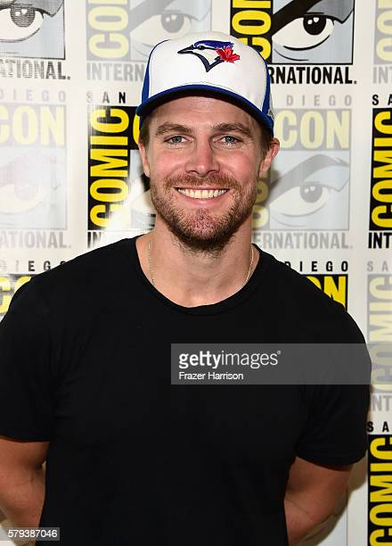 Actor Stephen Amell attends Arrow Press Line during ComicCon International 2016 at Hilton Bayfront on July 23 2016 in San Diego California