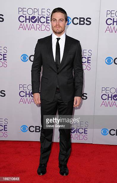 Actor Stephen Amell attends the 2013 People's Choice Awards at Nokia Theatre LA Live on January 9 2013 in Los Angeles California