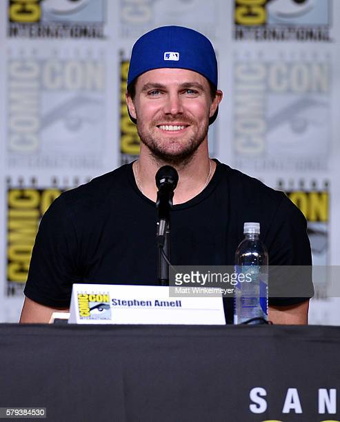 "Actor Stephen Amell attends the ""Arrow"" Special Video Presentation and Q&A during Comic-Con International 2016 at San Diego Convention Center on July..."
