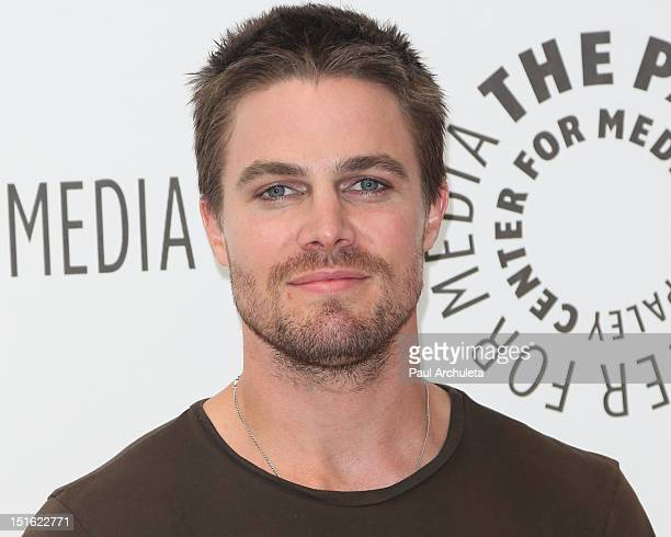 Actor Stephen Amell attends the Fall TV preview party for the screening of CW's Arrow at The Paley Center for Media on September 8 2012 in Beverly...