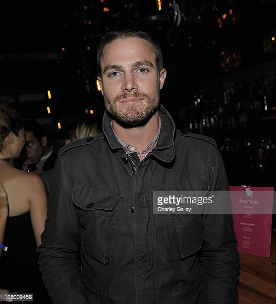 Actor Stephen Amell attends the launch of Ubisoft's 'Just Dance 3' at The Beverly on October 4 2011 in Los Angeles California