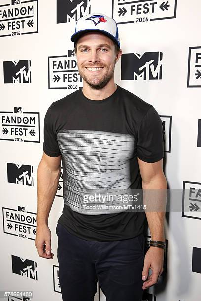 Actor Stephen Amell attends the MTV Fandom Awards San Diego at PETCO Park on July 21 2016 in San Diego California