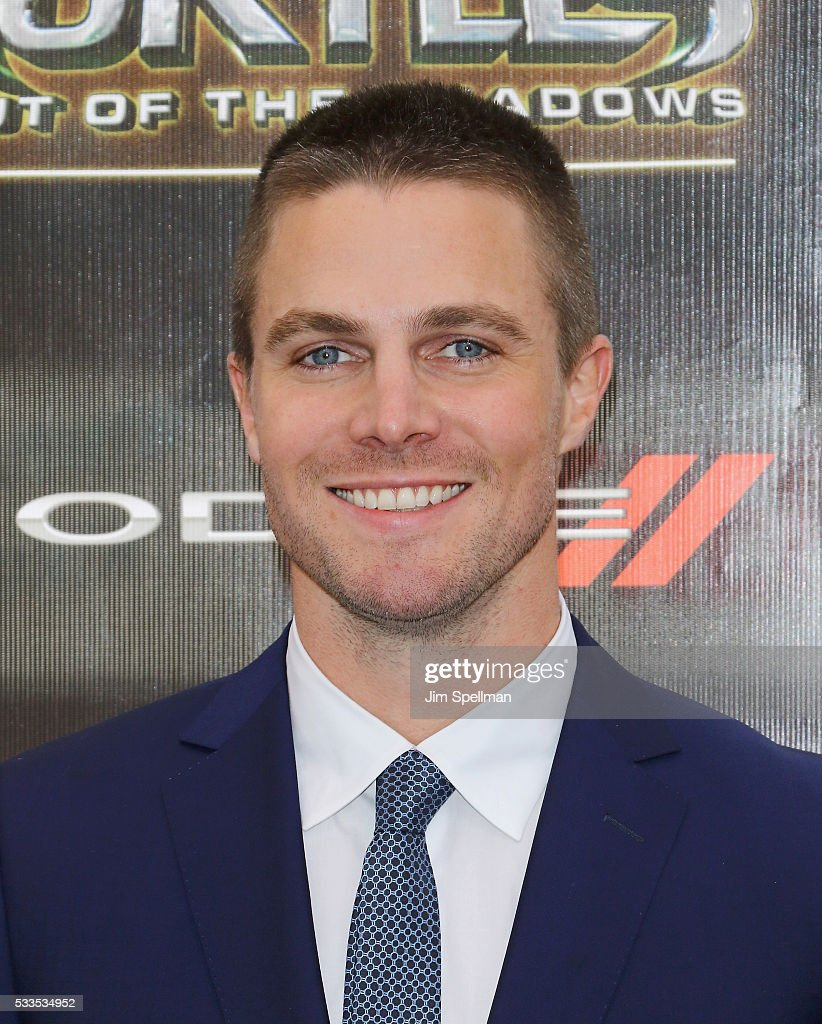 Actor Stephen Amell attends the 'Teenage Mutant Ninja Turtles: Out Of The Shadows' world premiere at Madison Square Garden on May 22, 2016 in New York City.