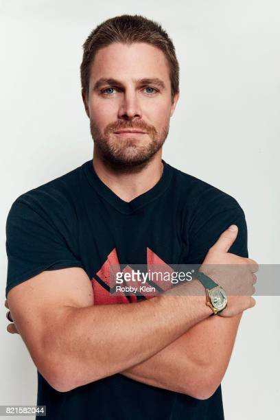 Actor Stephen Amell from CW's 'Arrow' poses for a portrait during ComicCon 2017 at Hard Rock Hotel San Diego on July 22 2017 in San Diego California