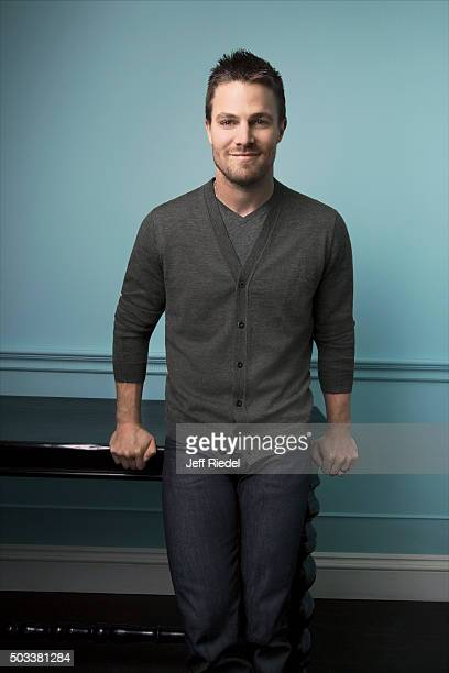 Actor Stephen Amell is photographed for TV Guide Magazine on January 17 2015 in Pasadena California