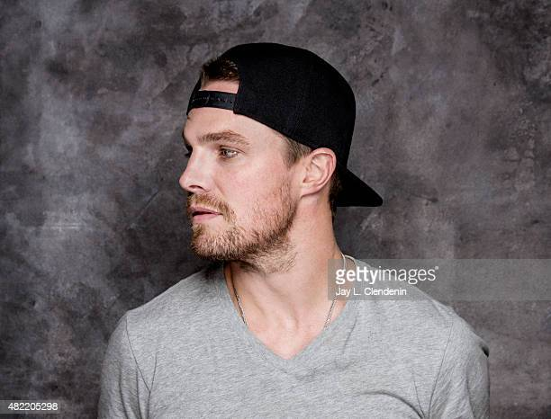 Actor Stephen Amell of 'Arrow' poses for a portrait at ComicCon International 2015 for Los Angeles Times on July 9 2015 in San Diego California...
