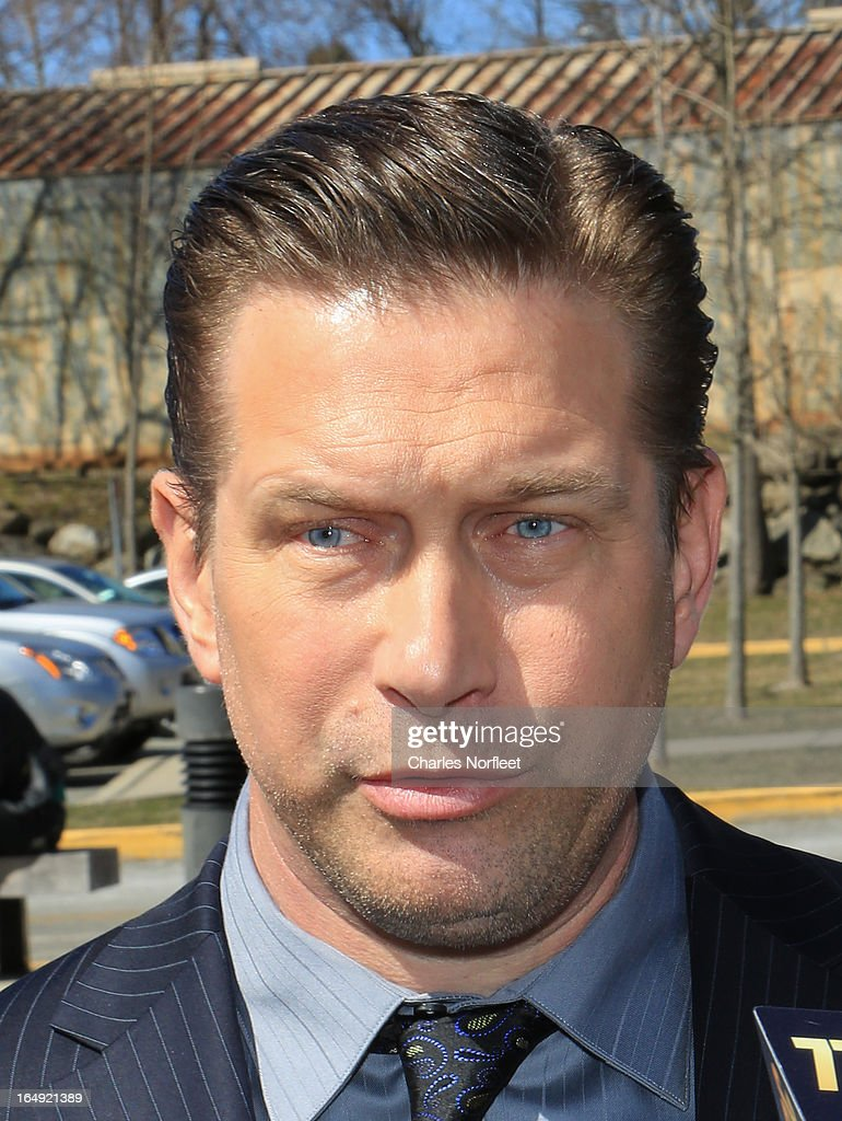 Actor Stephen Baldwin addresses the media after pleading guilty to a charge of repeated failure to file income taxes at Rockland County Courthouse on March 29, 2013 in New City, New York. Baldwin, a contestant on 'All-Star Celebrity Apprentice', was accused of failing to file income tax returns from 2008-2010 and faced up to four years in prison.