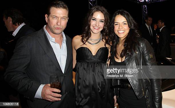 Actor Stephen Baldwin Alaia Baldwin and actress Michelle Rodriquez attend the Lotus Cars Launch event on November 12 2010 in Los Angeles California