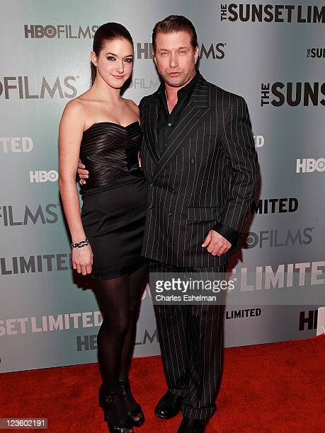 Actor Stephen Baldwin and daughter Alia Baldwin attend the HBO Films The Cinema Society host a screening of 'Sunset Limited' at the Time Warner...