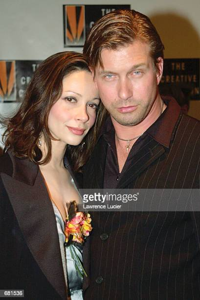 Actor Stephen Baldwin and his wife Kennya Deodato arrive at the Creative Coalition 2001 Spotlight Awards November 12 2001 at Sotheby's in New York...