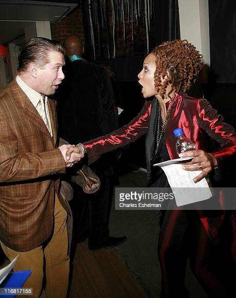 """Actor Stephen Baldwin and singer Simone Simone attend """"Dr. Nina Simone's 75th Birthday Celebration"""" at Canal Room on February 21, 2008 in New York..."""