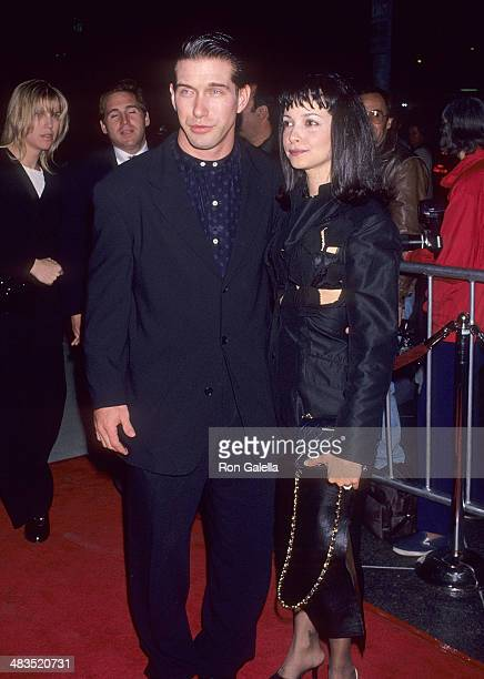 Actor Stephen Baldwin and wife Kennya attend the 8 Seconds West Hollywood Premiere on February 22 1994 at the DGA Theatre in West Hollywood California