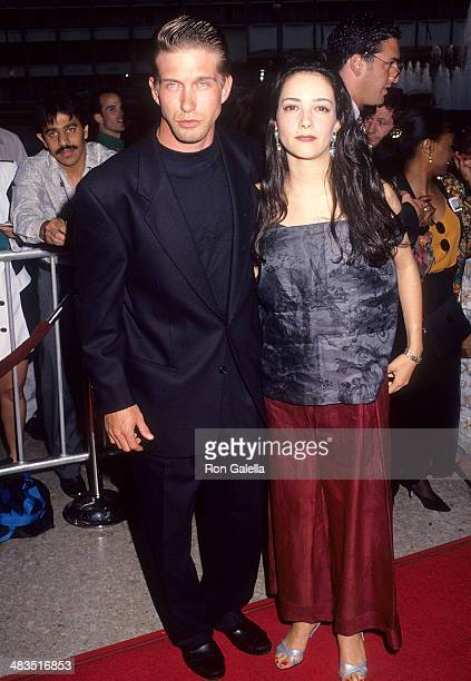 Actor Stephen Baldwin and wife Kennya attend the Alien 3 Century City Premiere on May 19 1992 at the Cineplex Odeon Century Plaza Cinemas in Century...