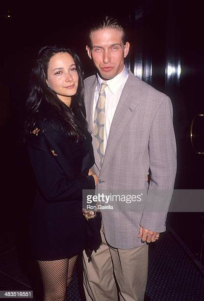 Actor Stephen Baldwin and wife Kennya attend the Article 99 West Hollywood Premiere on March 4 1992 at the DGA Theatre in West Hollywood California