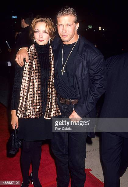 Actor Stephen Baldwin and wife Kennya attend the Dumb and Dumber Hollywood Premiere on December 6 1994 at the Cinerama Dome Theatre in Hollywood...
