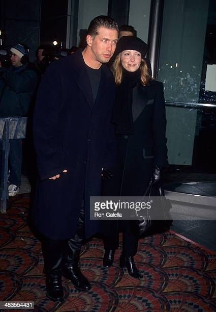"""Actor Stephen Baldwin and wife Kennya attend the """"If Lucy Fell"""" New York City Premiere on March 4, 1996 at Sony Theatres Lincoln Square in New York..."""