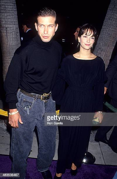 Actor Stephen Baldwin and wife Kennya attend The Mask Beverly Hills Premiere on July 28 1994 at the Academy Theatre in Beverly Hills California