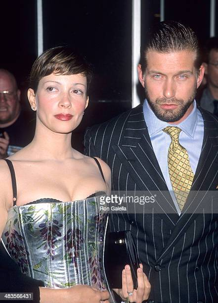 Actor Stephen Baldwin and wife Kennya attend the One Tough Cop New York City Premiere on October 5 1998 at City Cinemas Cinema 1 in New York City