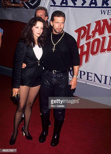 Actor Stephen Baldwin and wife Kennya attend the Planet Hollywood Grand Opening Celebration on July 24 1994 at Planet Hollywood Caesars Palace in Las...