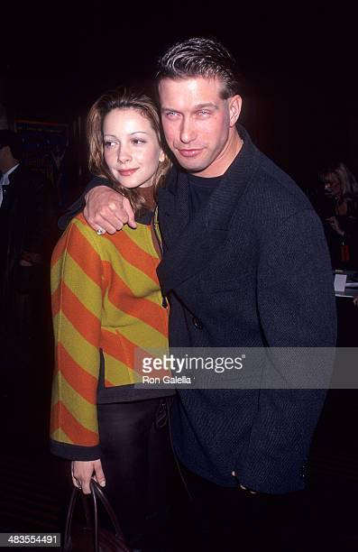 """Actor Stephen Baldwin and wife Kennya attend the """"Riverdance"""" Opening Night Performance on March 14, 1996 at Radio City Music Hall in New York City."""