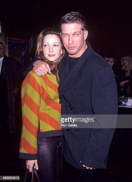 Actor Stephen Baldwin and wife Kennya attend the Riverdance Opening Night Performance on March 14 1996 at Radio City Music Hall in New York City