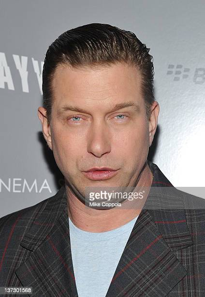 Actor Stephen Baldwin attends the Cinema Society Blackberry Bold screening of Haywire at Landmark Sunshine Cinema on January 18 2012 in New York City