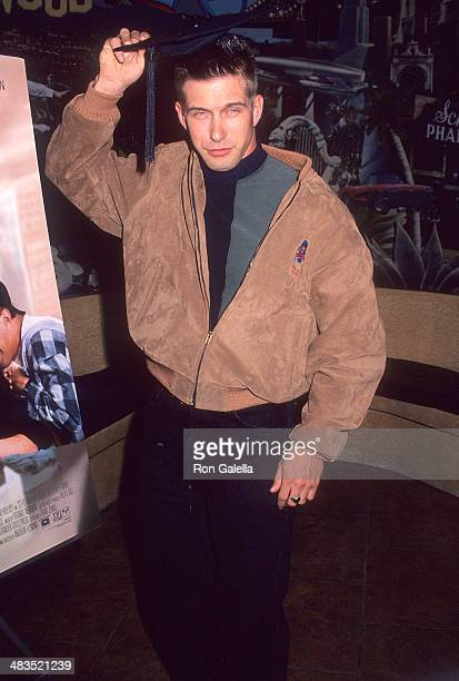 Actor Stephen Baldwin Presents Planet Hollywood with Graduation Cap from the Film 'Threesome' on March 30 1994 at Planet Hollywood 140 West 57th...