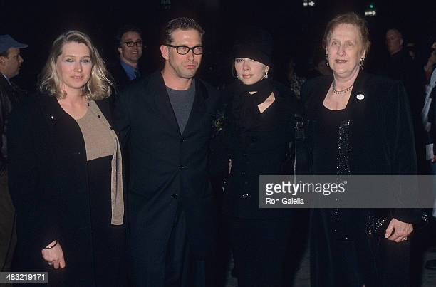 Actor Stephen Baldwin wife Kennya his sister Elizabeth Keuchler and his mother Carol attend I Dreamed of Africa New York City Premiere on April 18...