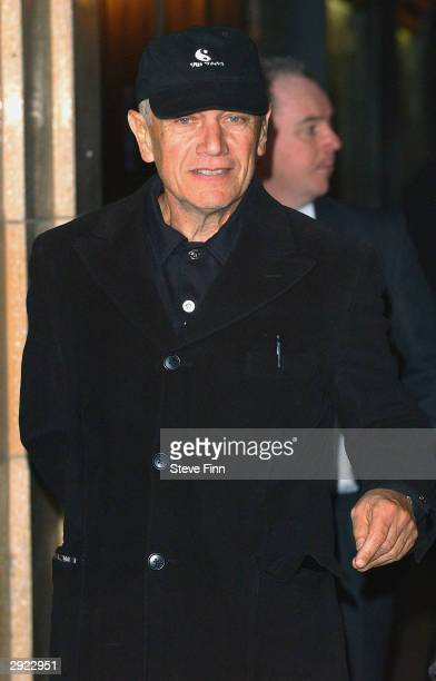 Actor Stephen Berkoff attends the UK Premiere of Charlie at the Warner Village Cinema West End on February 2 2004 in London Charlie is the story of...