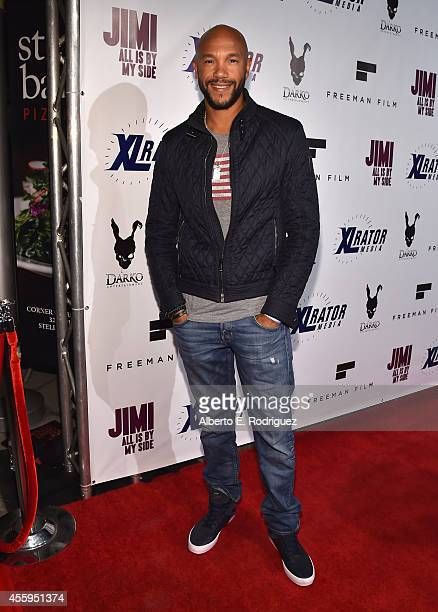 Actor Stephen C Bishop arrives to the Los Angeles premiere of Jimi All Is By My Side at ArcLight Cinemas on September 22 2014 in Hollywood California