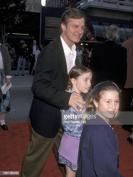 Actor Stephen Collins daughter Kate Collins and guest attend the 'Grease' 20th Anniversary Hollywood Premiere on March 15 1998 at Mann's Chinese...
