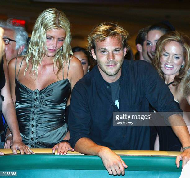 Actor Stephen Dorff and model May Anderson are seen at the opening of the Borgata Hotel Casino SPA on July 3 2003 in Atlantic City New Jersey The new...