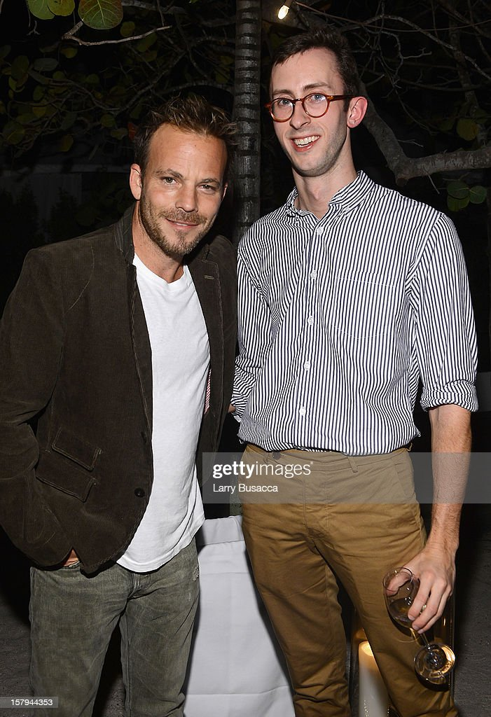 Actor Stephen Dorff and Sam Cochran of Architectural Digest attend AD Oasis & Sunbrella host Cocktail Party Celebrating AD100 Designer Mark Cunningham at The Raleigh on December 7, 2012 in Miami, Florida.