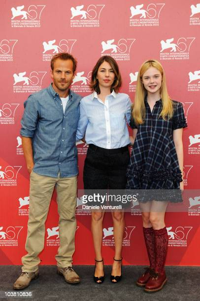 Actor Stephen Dorff director Sofia Coppola and actress Elle Fanning attend the Somewhere photocall at the Palazzo del Casino during the 67th Venice...