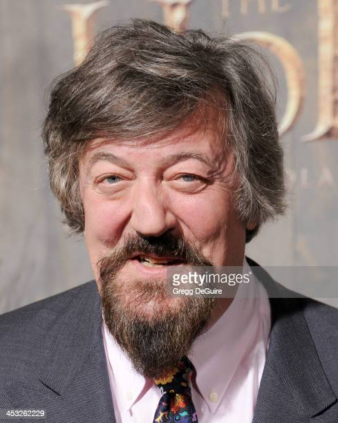 """Actor Stephen Fry arrives at the Los Angeles premiere of """"The Hobbit: The Desolation Of Smaug"""" at TCL Chinese Theatre on December 2, 2013 in..."""