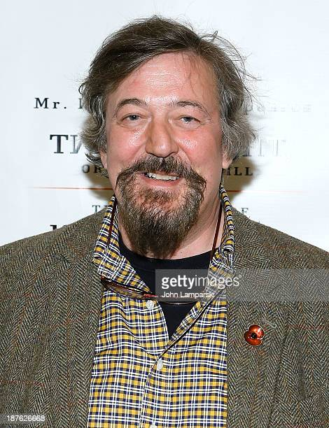 Actor Stephen Fry attends the Broadway opening night production of Twelfth Night Richard III at Gotham Hall on November 10 2013 in New York City