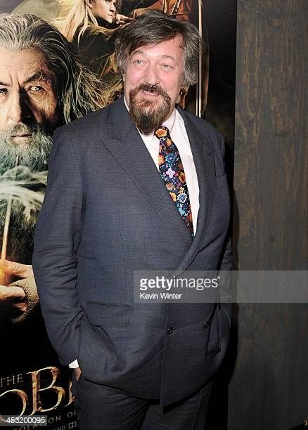 Actor Stephen Fry attends the premiere of Warner Bros' The Hobbit The Desolation of Smaug at TCL Chinese Theatre on December 2 2013 in Hollywood...