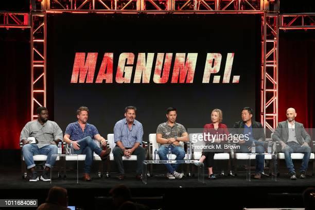 Actor Stephen Hill Zachary Knighton executive producer Peter M Lenkov actor Jay Hernandez actress Perdita Weeks actor Tim Kang and executive producer...