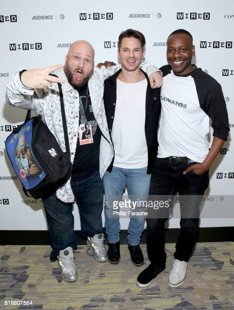 Actor Stephen Kramer Glickman and actors Matt Lanter and Malcolm Barrett of 'Timeless' at 2017 WIRED Cafe at Comic Con presented by ATT Audience...