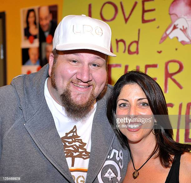 Actor Stephen Kramer Glickman and writer Michelle Kholos Brooks arrive at Open Night Premiere of the Play Love And Other Allergies at the Lounge...