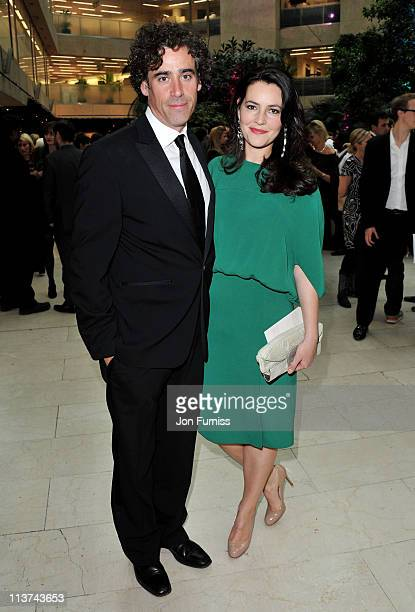 Actor Stephen Mangan and actress Louise Delamere attend the nominees party for 'The Philips British Academy Television and British Academy Television...