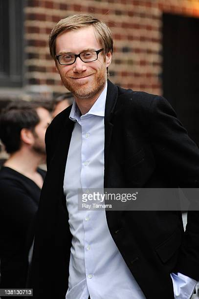 Actor Stephen Merchant arrives at Late Show With David Letterman taping at the Ed Sullivan Theater on February 2 2012 in New York City