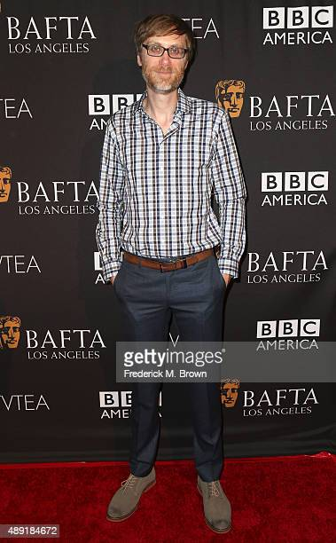 Actor Stephen Merchant attends the 2015 BAFTA Los Angeles TV Tea at SLS Hotel on September 19 2015 in Beverly Hills California