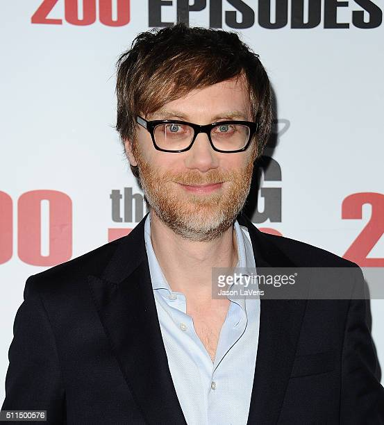 """Actor Stephen Merchant attends """"The Big Bang Theory"""" 200th episode celebration at Vibiana on February 20, 2016 in Los Angeles, California."""