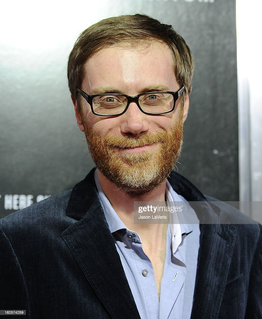 Actor Stephen Merchant attends the premiere of 'Captain Phillips' at the Academy of Motion Picture Arts and Sciences on September 30, 2013 in Beverly Hills, California.